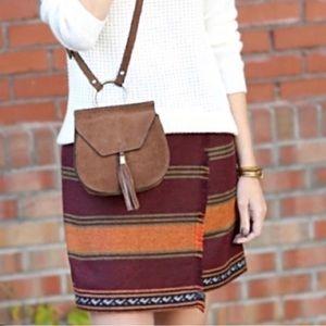 Loft Striped Wrap Blanket Mini Skirt Sz 12